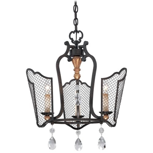 Metropolitan N7110 3 Light 1 Tier Mini Cage Chandelier from the Cortona Collection