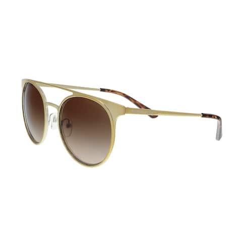 Michael Kors MK1030 116813 Shiny Pale Gold Round Sunglasses - 52-19-140
