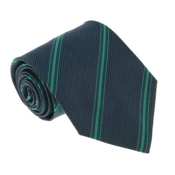 Missoni U4542 Green/Navy Regimental 100% Silk Tie - 60-3