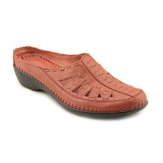 Easy Spirit Dolly N/S Round Toe Leather Mules