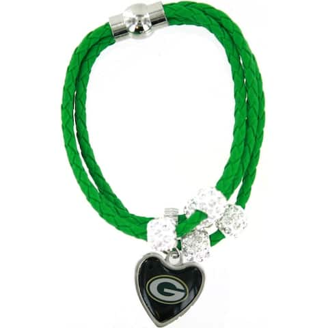 Green Bay Packers Green Braided Cord Bracelet