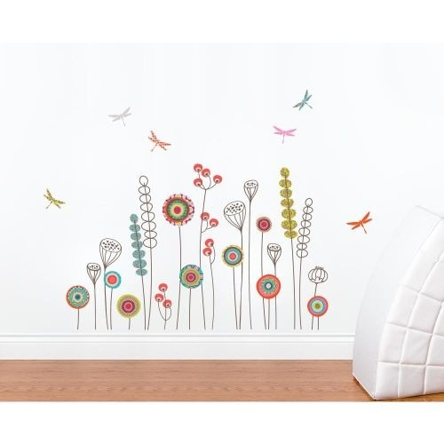 York Wallcoverings MIA113 Mia & Co Garden Transfer Wall Decals