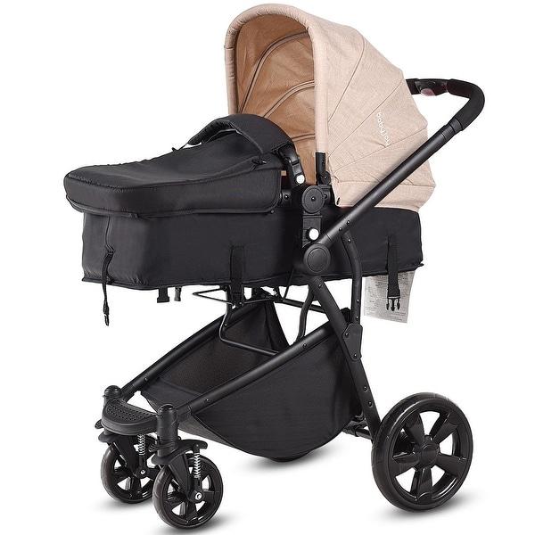 Shop Costway 2 in 1 Folding Aluminum Baby Stroller Buggy ...