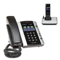 Polycom 2200-48500-001 VVX 501 12-line Business Media Phone with power supply & VVX D60 Handset