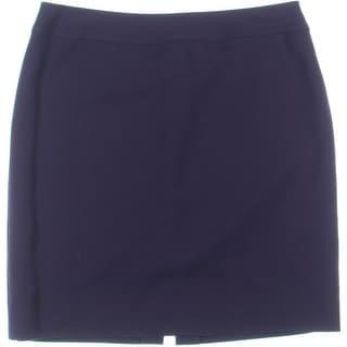 Tahari ASL Womens Petites Alison Straight Skirt Ponte Solid
