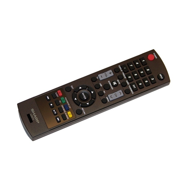 OEM Sharp Remote Control Originally Supplied With: LC46SV49U, LC-46SV49U, LC46SV50, LC-46SV50, LC46SV50U, LC-46SV50U