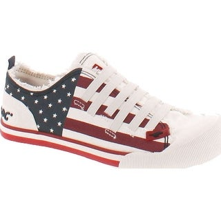 Rocket Dog Womens Joint Usa Flag Patriotic Fashion Sneakers - White