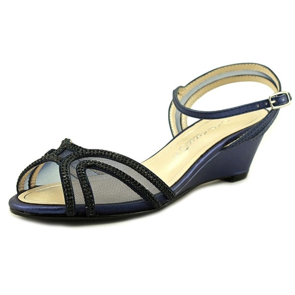 Caparros Hilton Women Navy Metallic Sandals