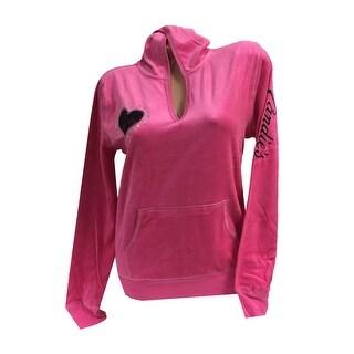 Candie's Intimates Junior Velvet Hoodie Pullover 87285 - Large