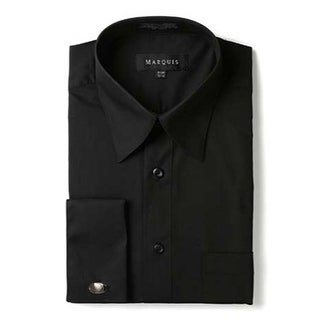 Marquis Men's Regular Fit French Cuff Dress Shirt - Cufflinks Included