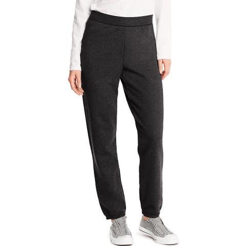 Hanes ComfortSoft ; EcoSmart® Women's Cinch Leg Sweatpants - Size - M - Color - Ebony - Black