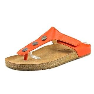 Haflinger Lisa Women Open Toe Leather Red Thong Sandal