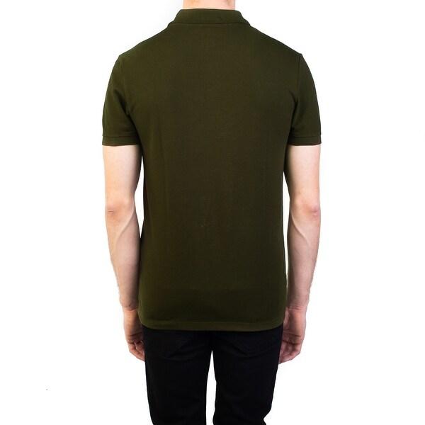 Versace Collection Men/'s Cotton Pique Medusa Polo Shirt Miliary Green