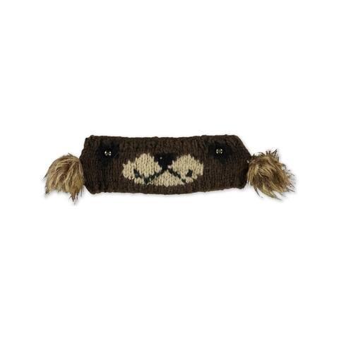 American Rag Womens Bear Earwarmer Ear Warmer Headband, Brown, 11/12
