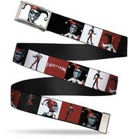 Harley Quinn Fcg  Chrome Harley Quinn W Poses Blocks Red Black White Web Belt