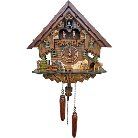 """14"""" Engstler Battery-Operated Full Size Cuckoo Wall Clock"""