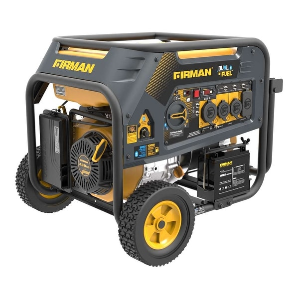 Firman Power Equipment Dual Fuel 10,000/8,000 Watt Generator - Black