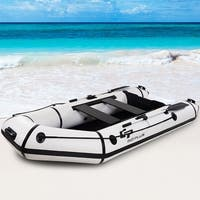 Goplus 4-Person 10FT Inflatable Dinghy Boat Fishing Tender Rafting Water Sports - as pic