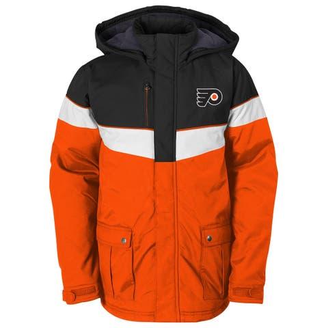 Outerstuff NHL Boys Jacket Orange Size Large L Colorblock P-Flyers Parka