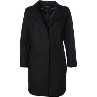 Via Spiga Womens Plus Coat Wool Walker