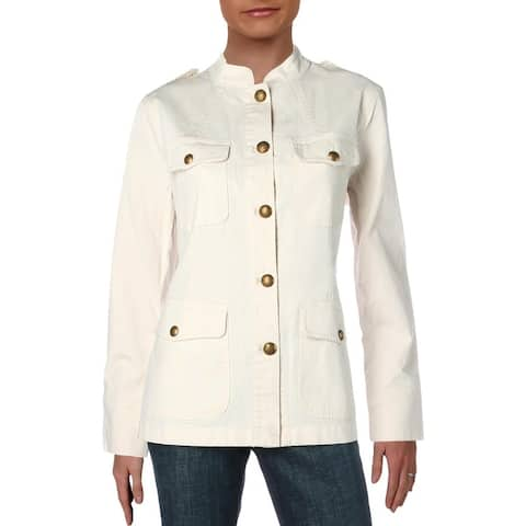 Lauren Ralph Lauren Womens Vilhelmina Jacket Spring Denim - Winter Cream