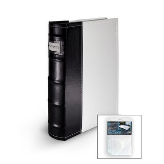 Bellagio-Italia DVD/CD Storage White DVD Binder with Insert Sheets