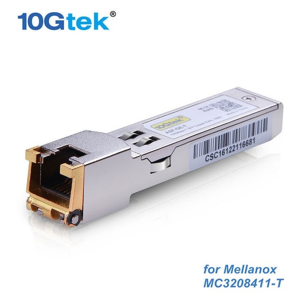 Mellanox Mc3208411-T Ethernet Cable Module 1Gbe 1Gb/S Sfp Base-T Up To 100M