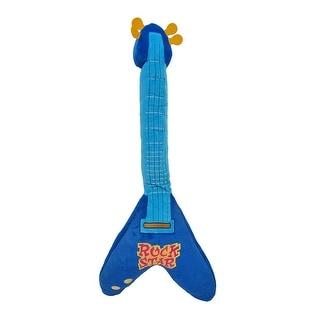 Childrens Blue Rockstar Guitar Body Pillow 37 In.