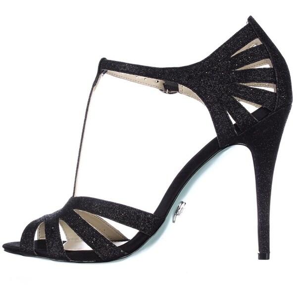 blue by betsey johnson tee glitter dress sandals