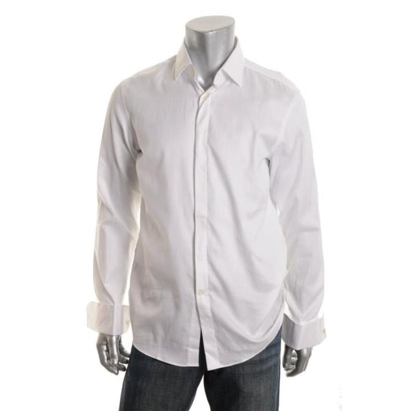 9a87f2bba Shop BOSS Hugo Boss Mens Marlyn Dress Shirt Shadow Stripe Sharp Fit - Free  Shipping Today - Overstock - 17813909