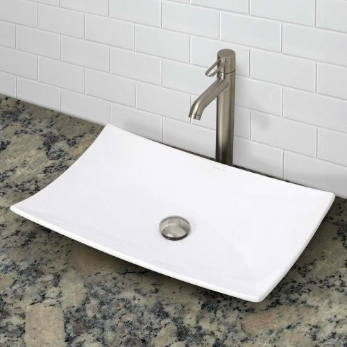 Decolav 1443 Clically Redefined 23 5 8 Rectangular Vitreous China Vessel Bathroom Sink