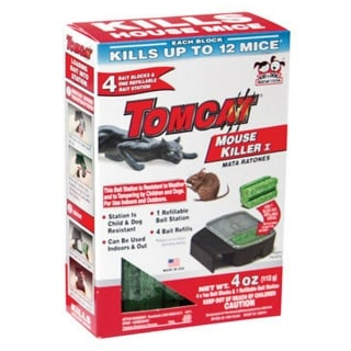Tomcat BL22404 Refillable Mouse Bait Station, Plastic, Small Size