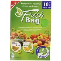 Fresh Bags Reusable 10-Piece Fruits & Vegetable Preserver, Green, 15x9.8