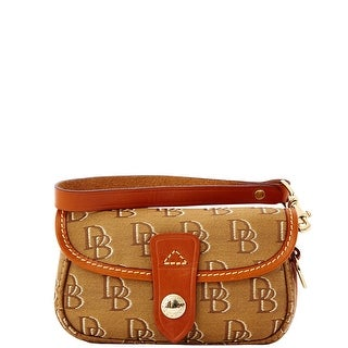 Dooney & Bourke Shadow DB Flap Wristlet (Introduced by Dooney & Bourke at $58 in Feb 2012) - cocoa brown cream