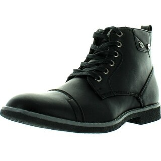 Arider New Men's Dress Cap Toe Ankle Boots Denim Friendly Cooper 4 - Black