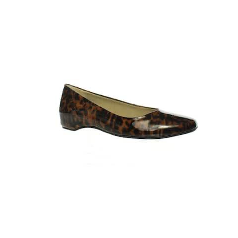 Walking Cradles Womens Pisces Leopard Patent Ballet Flats Size 6