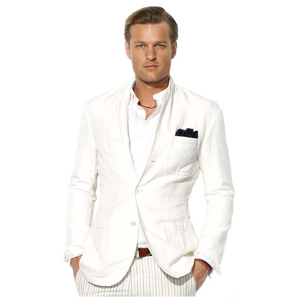 Polo Ralph Lauren Mens Classic Fit Abrahams Sportcoat 44 Regular White  Jacket
