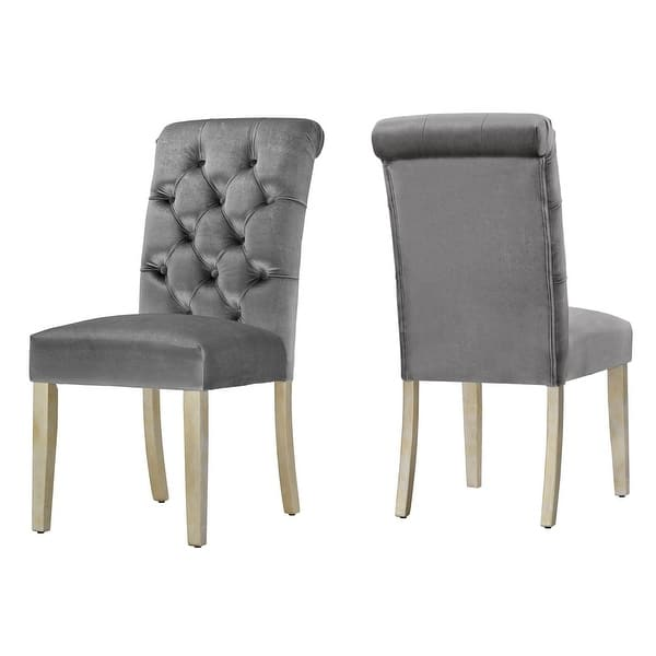 Benchwright Velvet Tufted Rolled Back Parsons Chairs Set Of 2 By Inspire Q Bold On Sale Overstock 15372156