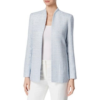 Calvin Klein Womens Knit Blazer Boucle Stand Collar