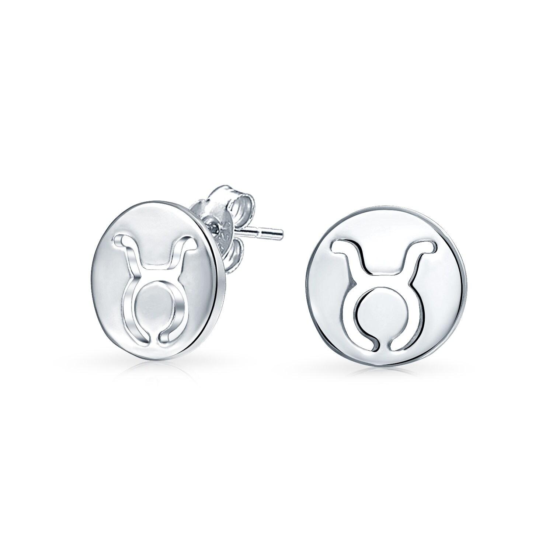 .925 disc earrings. Silver