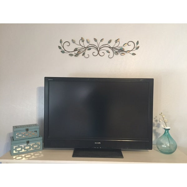 shop stratton home decor patina scroll leaf wall decor free