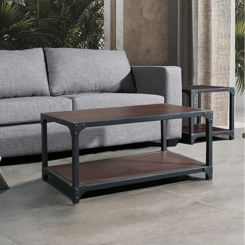 Carbon Loft Whittaker Modern Wood and Metal Coffee Table
