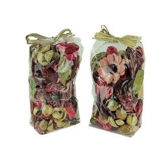 Double Bag Lot of Pomegranate Red and Brown Dried Botanical Decorative Filler - 9 X 5 X 3 inches