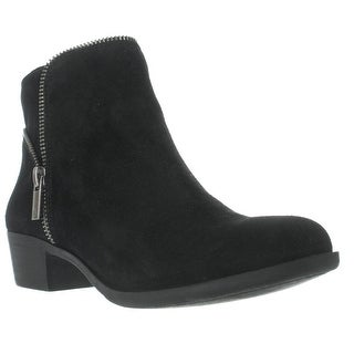 Lucky Brand Boide Zip Accent Ankle Boots - Black