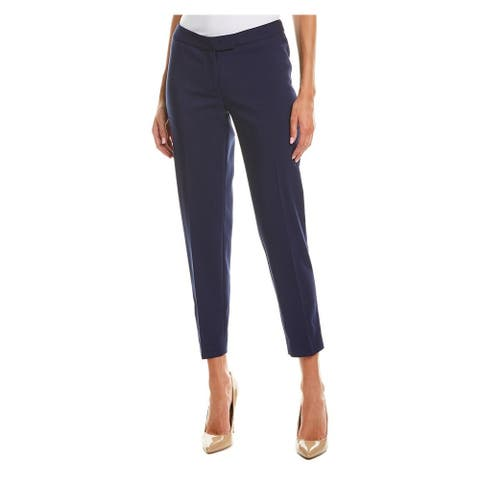 ANNE KLEIN Womens Navy Straight leg Wear to Work Pants Size 2
