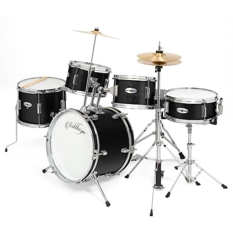 5-Piece Complete Junior Drum Set with Genuine Brass Cymbals by Ashthorpe