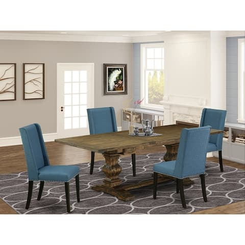East West Furniture This is stunning kitchen dinning sets with rectangle table and parson chairs