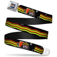 Nyan Cat Blue Full Color Rasta Nyan Cat W Long Rasta Streak Webbing Seatbelt Belt