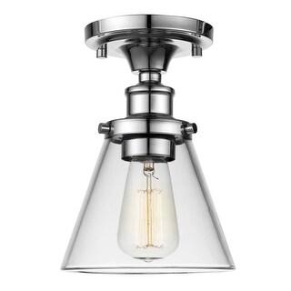 "Globe Electric 65726 Mercer Single Light 6-1/2"" Wide Flush Mount Ceiling Fixture"