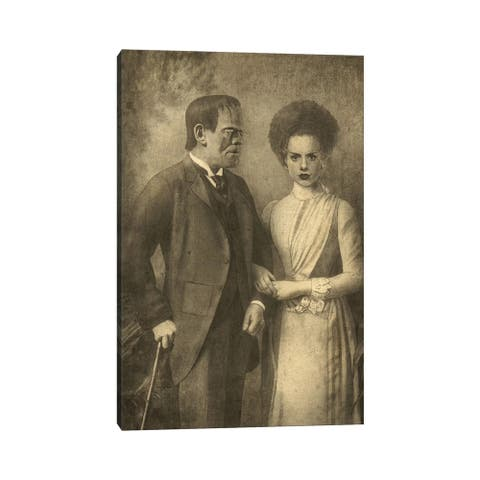 iCanvas 'Mr. and Mrs. Frankenstein' by Terry Fan Wrapped Canvas Print